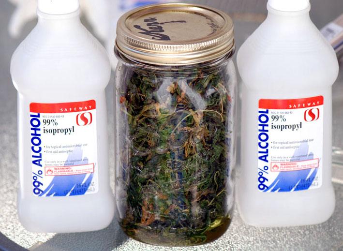 cannabis oil alcohol